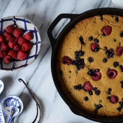 Easy Vegan Skillet Corncake | with variations