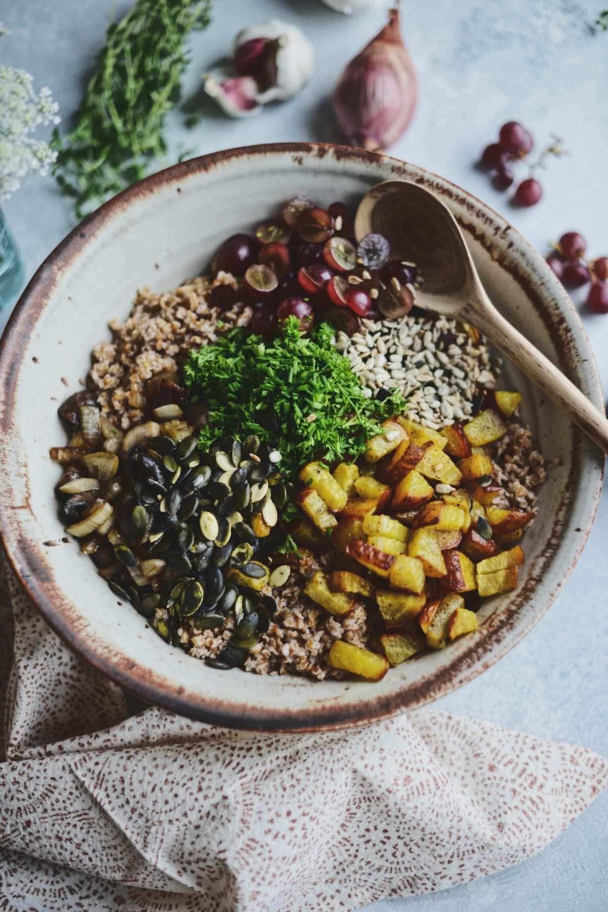 Fare Isle   Vegan Harvest Bulgar Salad