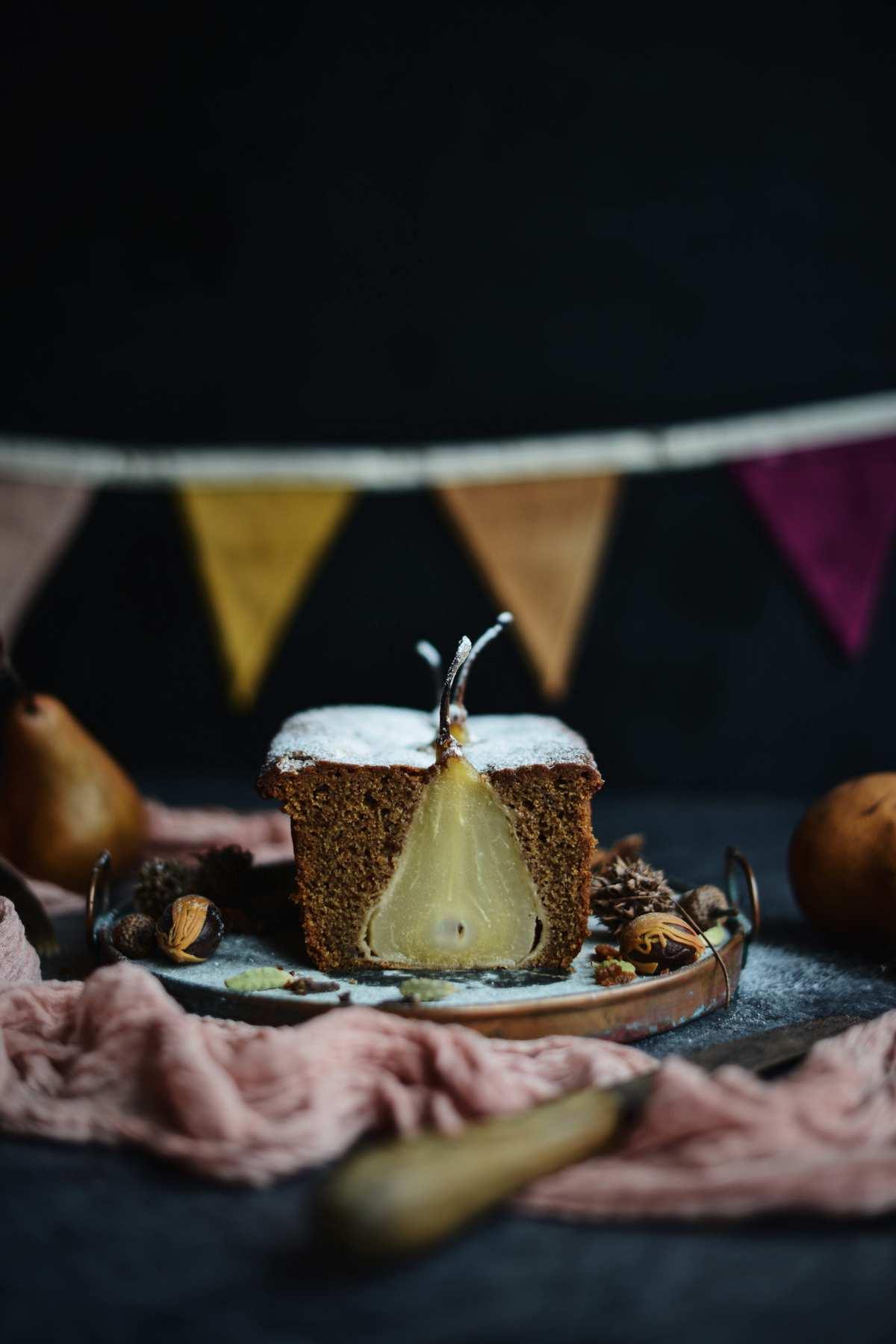Fare Isle | Vegan Chai Spice Pear Cake