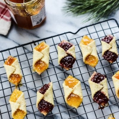 Vegan Apricot and Raspberry Jam Kolache (Kołaczki) Cookies