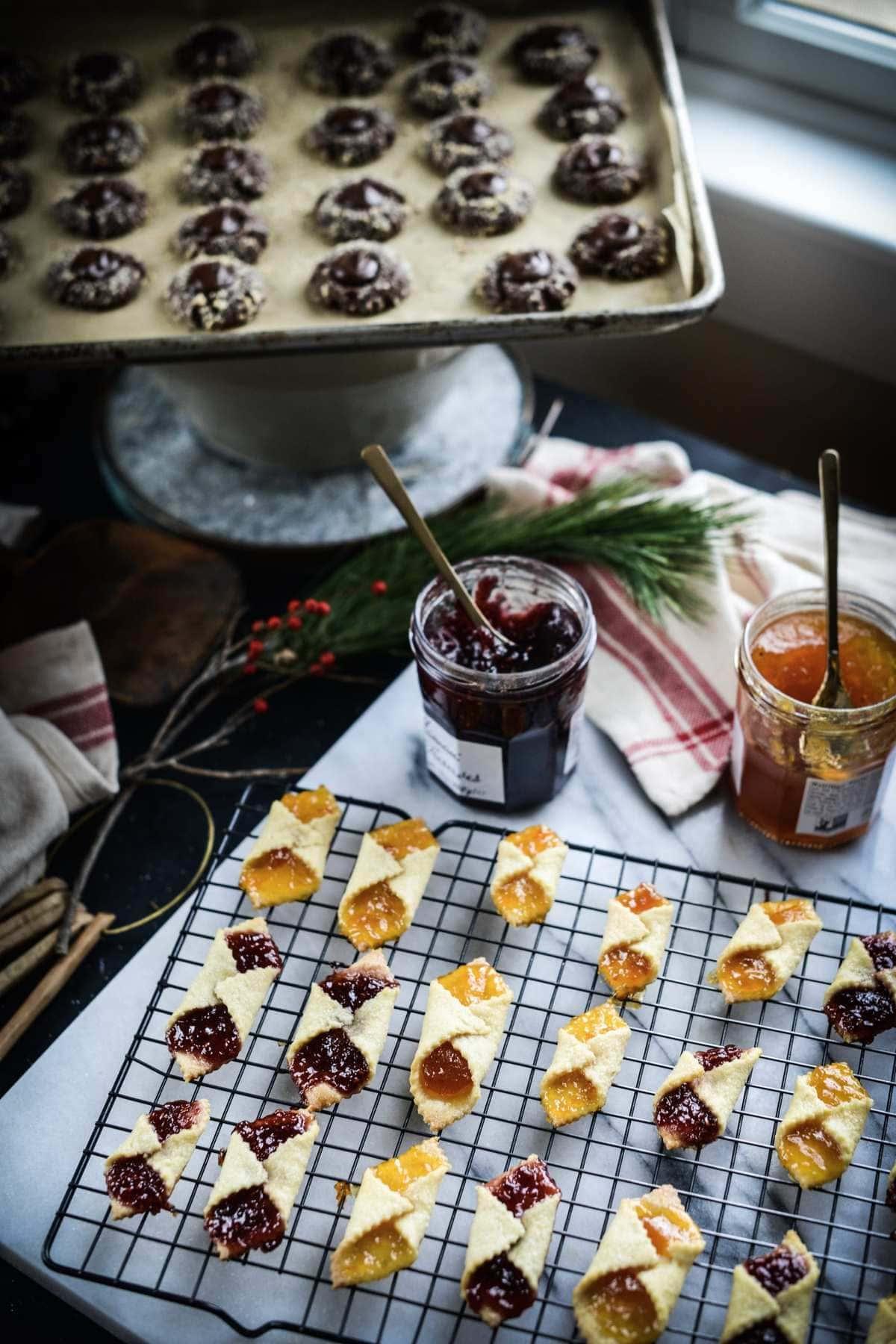 Fare Isle | Vegan Apricot and Raspberry Jam Kolache (Kołaczki) Cookies