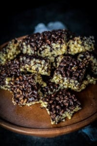 Fare isle | Vegan Dark Chocolate Tahini Scotcheroos