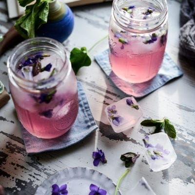 Wild Violet Syrup & Magical Color-Changing Pink Violet Lemonade