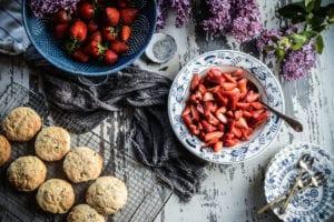 Fare Isle | Vegan Lilac Strawberry Shortcake