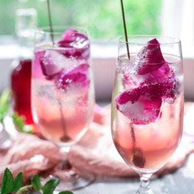 Sparkling Summer Rose Vodka Soda
