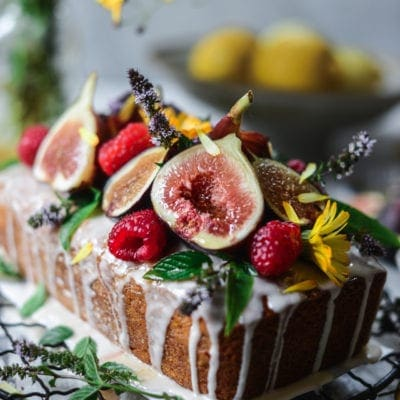 Olive Oil Honey Cake with Figs