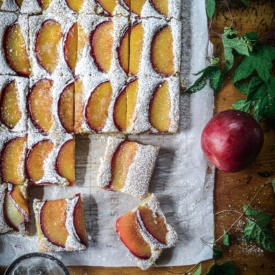 Vegan Semolina Plum Cake