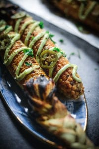 Fare Isle | Vegan Street Corn - Elotes with Avocado Aioli