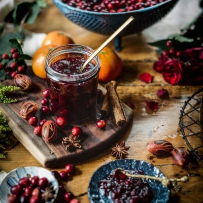 Maple Sweetened Cranberry Sauce