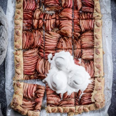 Vegan Hidden Rose Apple Galette