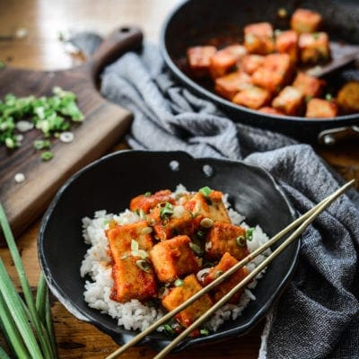 Vegan Sweet-Chili Tofu