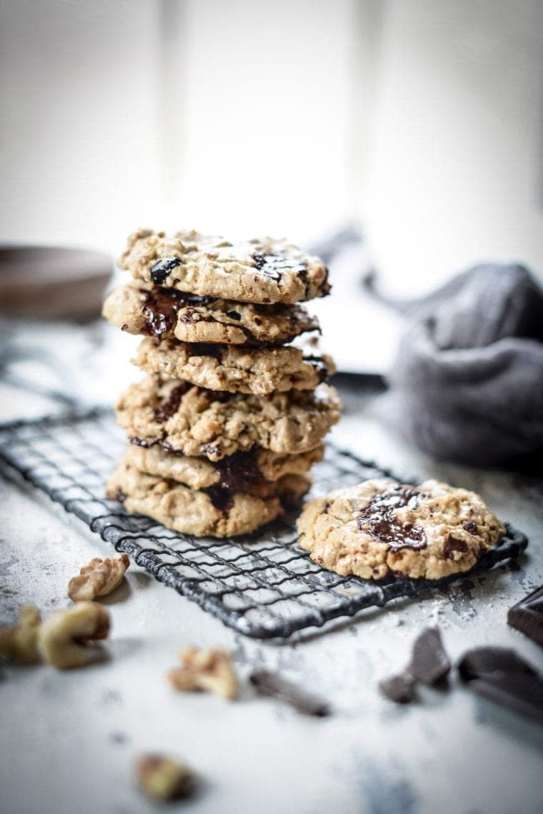 Fare Isle | Vegan Chocolate Chunk Cranberry Walnut Cookies