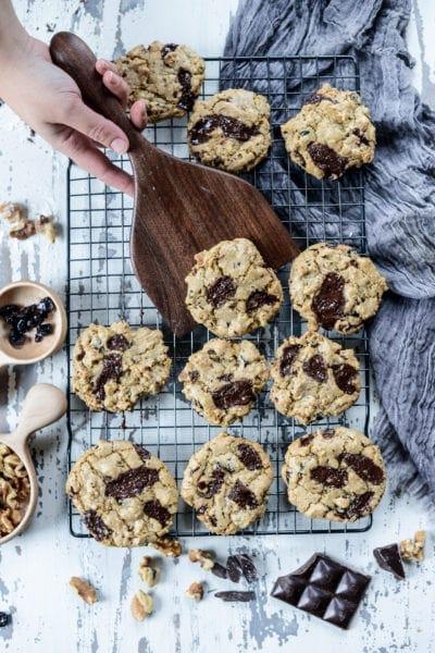 Fare Isle | Vegan Chocolate Chunk Cranberry Walnut Cookies