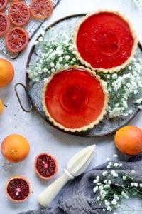Fare Isle | Vegan Blood Orange Custard Tart