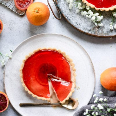 Vegan Blood Orange Custard Tart