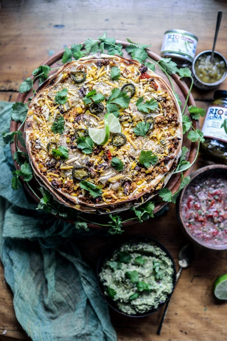 Fare Isle | Vegan Layered Taco Cake