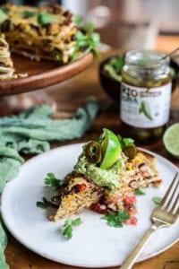 Fare Isle | Vegan Layered Taco Cake