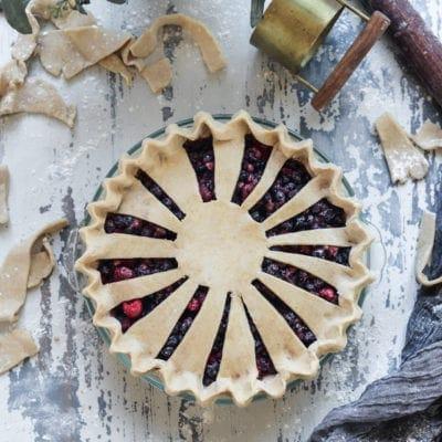 Vegan Berry Pie with Vanilla Bean Spelt Crust