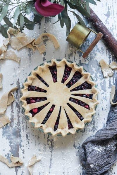Fare Isle | Vegan Blueberry Pie with Vanilla Bean Spelt Crust