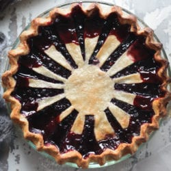 Fare Isle   Vegan Blueberry Pie with Vanilla Bean Spelt Crust
