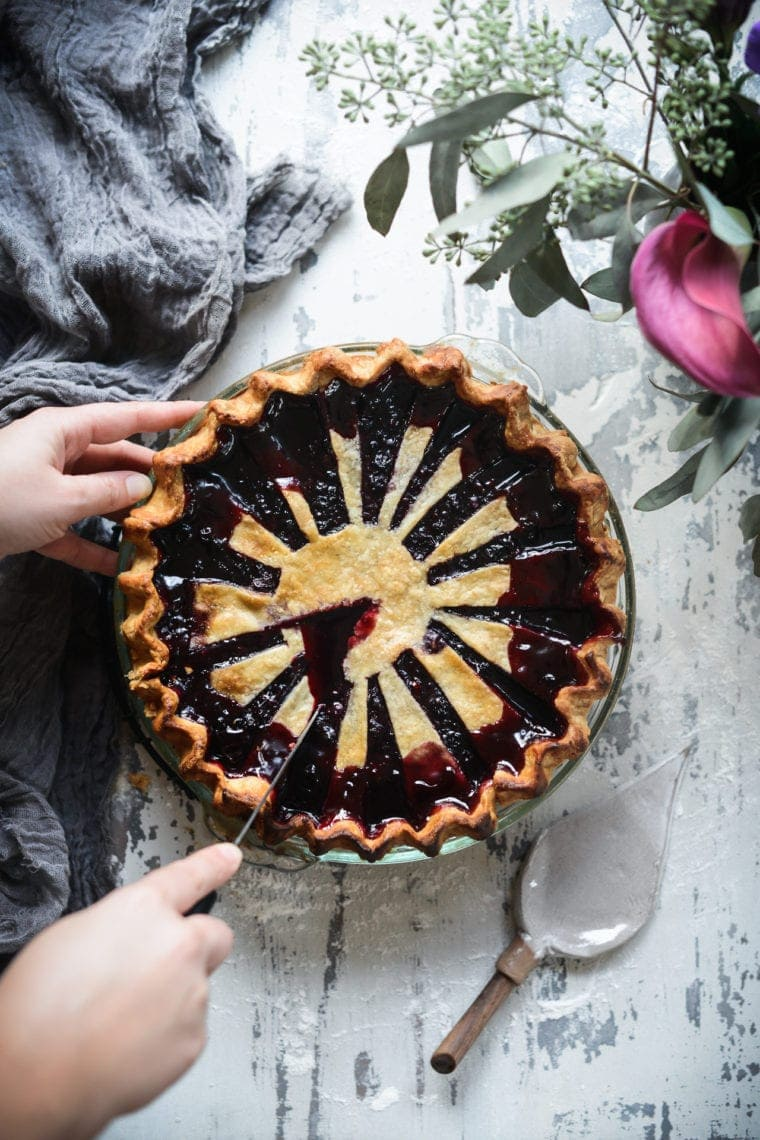 Fare Isle | Vegan Blueberry Pie with Vanilla Bean Spelt Crust