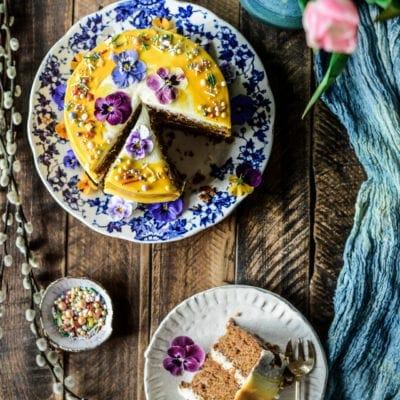 Vegan Spring Carrot Cake