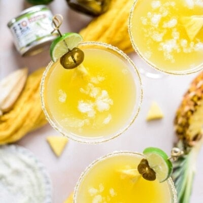 Green Chile Pineapple Margaritas