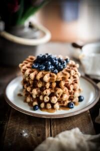 Fare Isle | Vegan Peanut Butter Roasted Banana Waffles