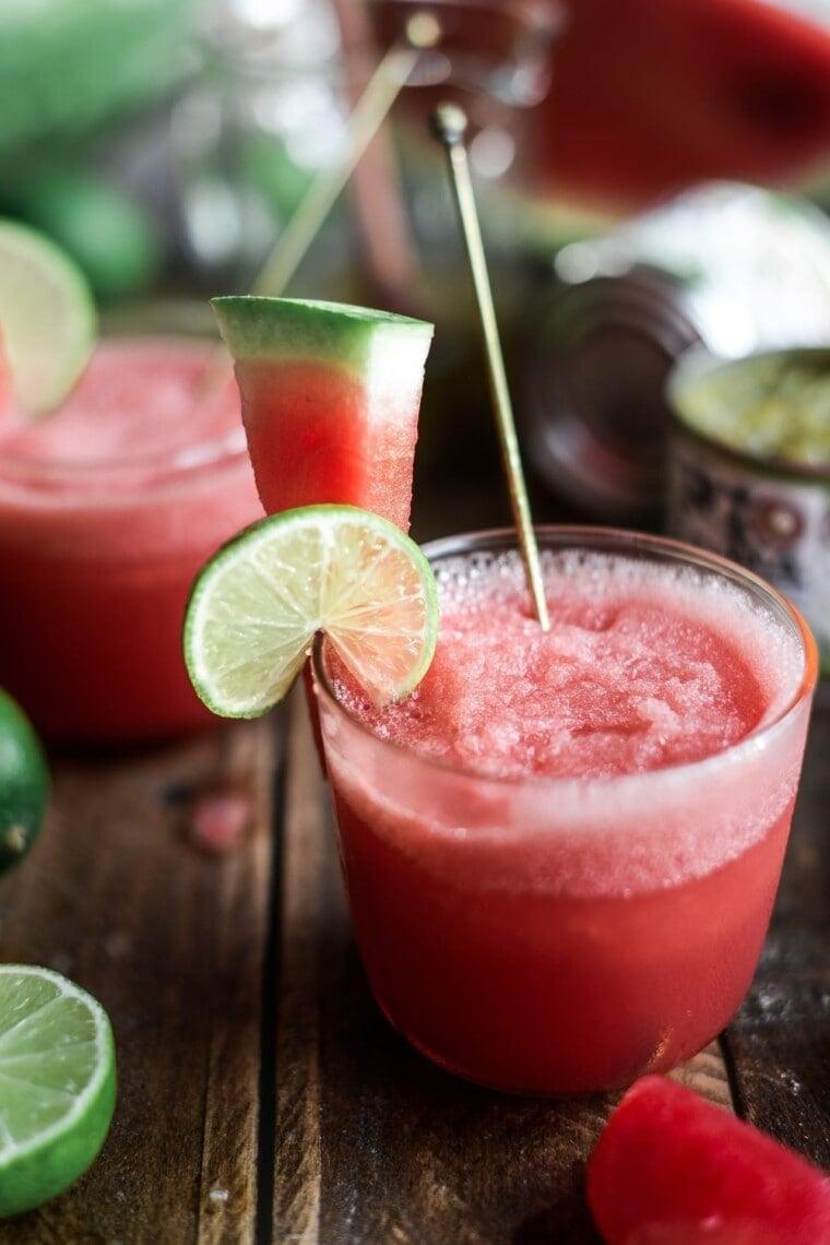 Fare Isle | Frozen Watermelon Chile Vodka Limeade - July 4th Cocktail Ideas