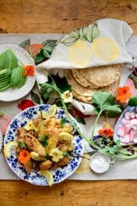 Fare Isle | Vegan Stuffed Squash Blossom Tacos