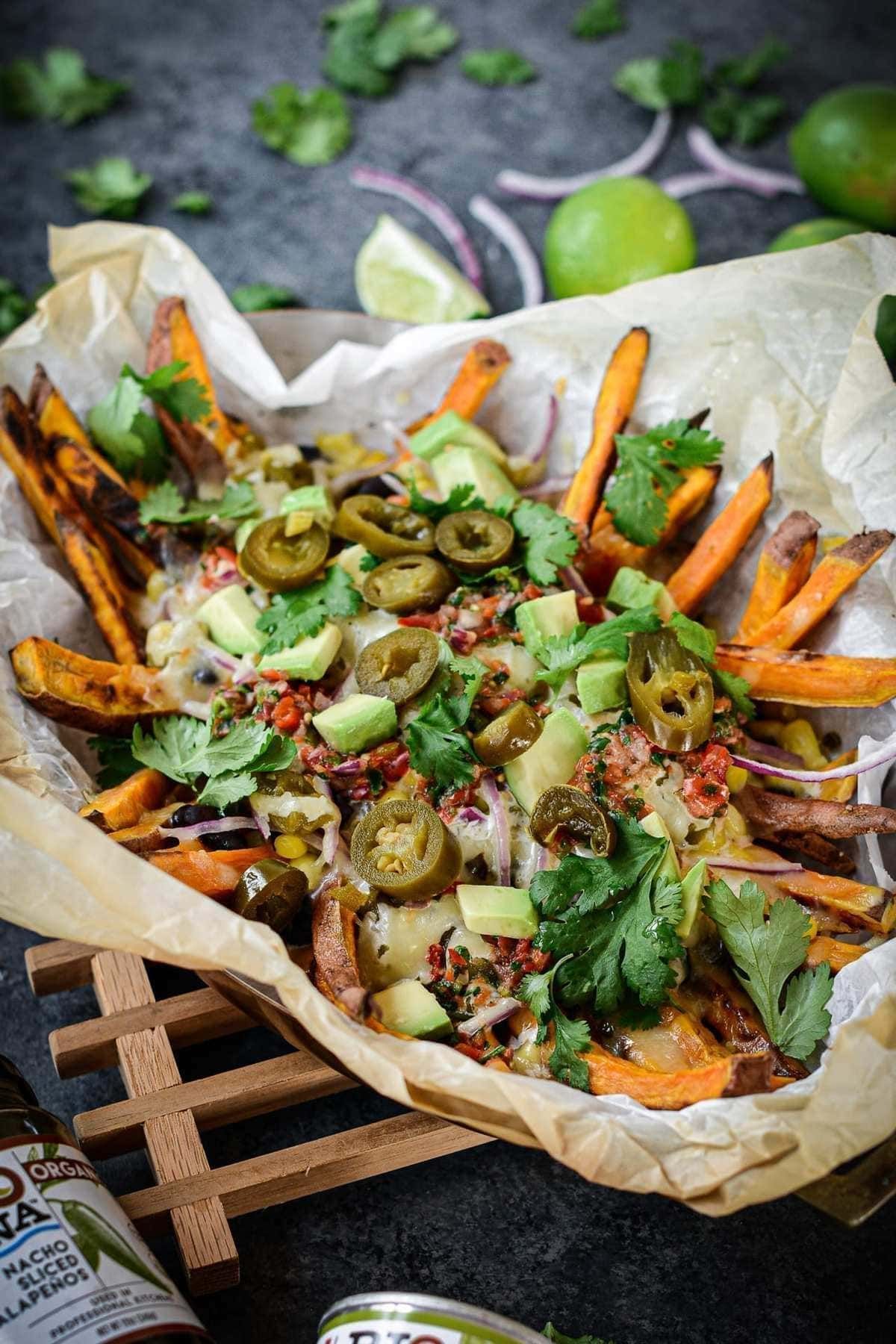 Loaded Tex-Mex Sweet Potato Fries