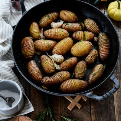 Roasted Rosemary Hasselback Fingerling Potatoes