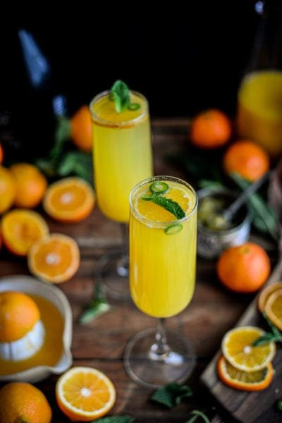 Fare Isle | Green Chile Tangerine Blissini Cocktail