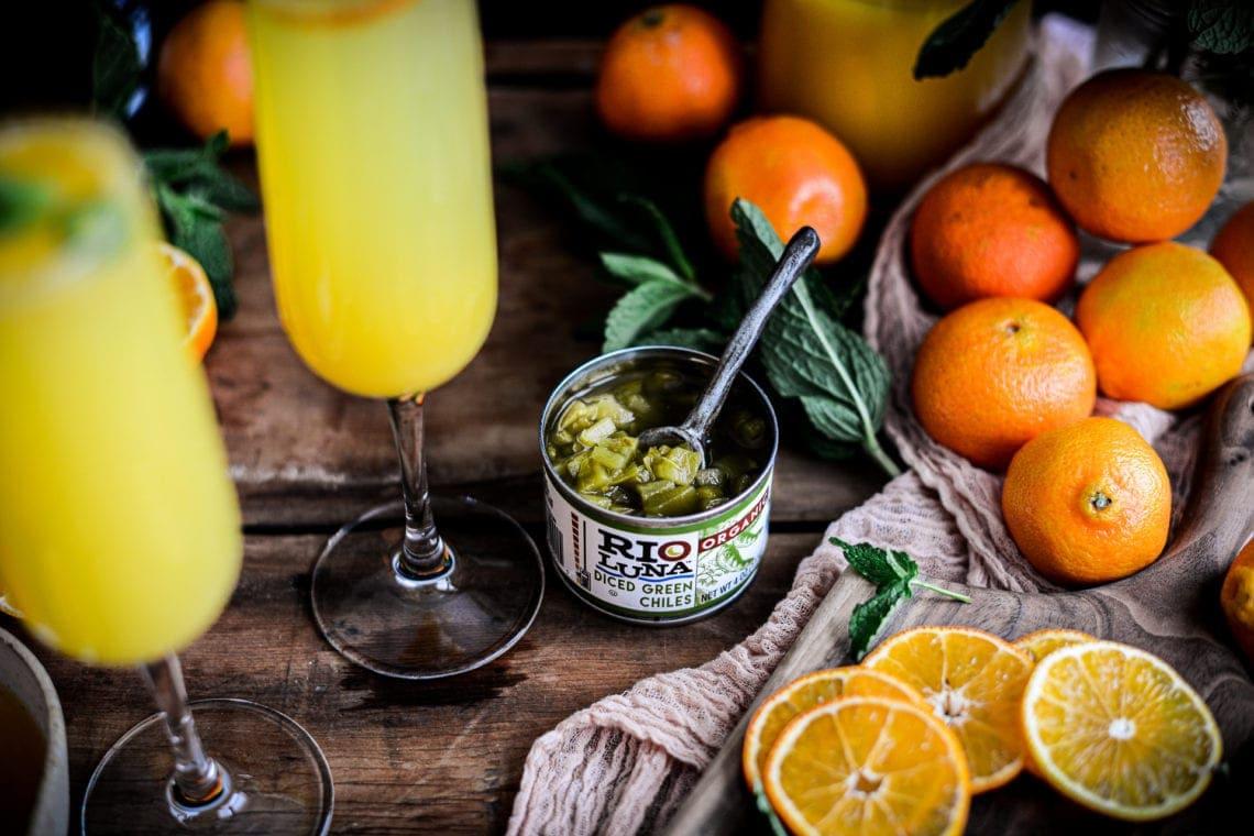 Fare Isle   Green Chile Tangerine Blissini Cocktail