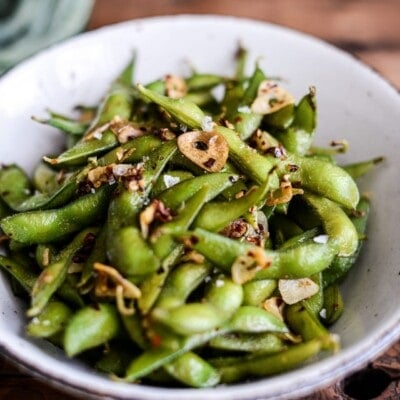 Garlic and Chile Edamame