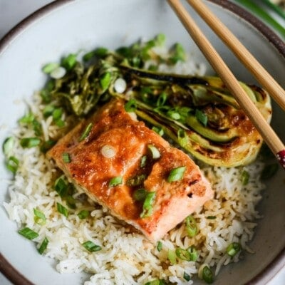 Slow Roasted Teriyaki Ginger Miso Salmon