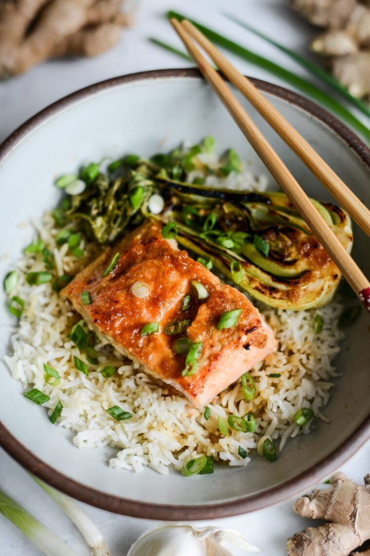 Fare Isle | Slow Roasted Teriyaki Ginger Miso Salmon