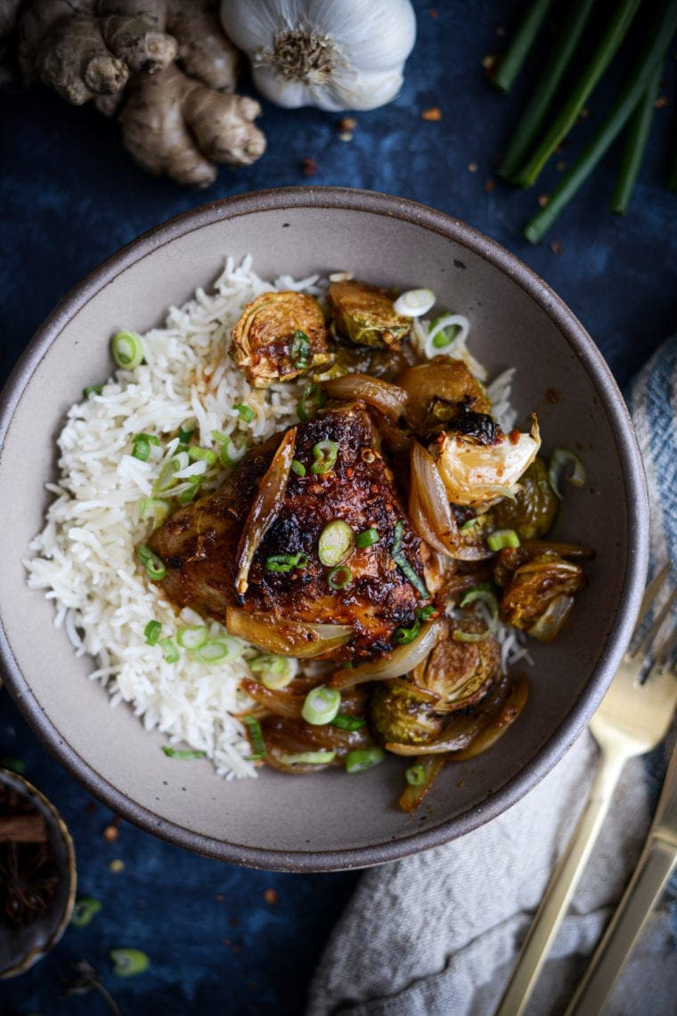Szechuan Pepper Chicken and Brussels Sprouts | Fare Isle