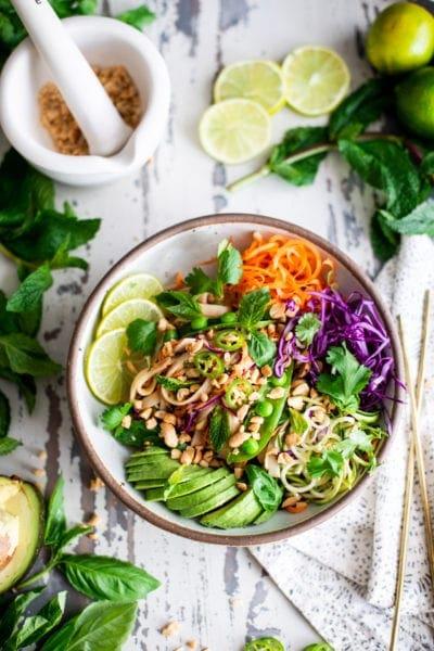 Vegan Thai Noodle Bowls | Fare Isle
