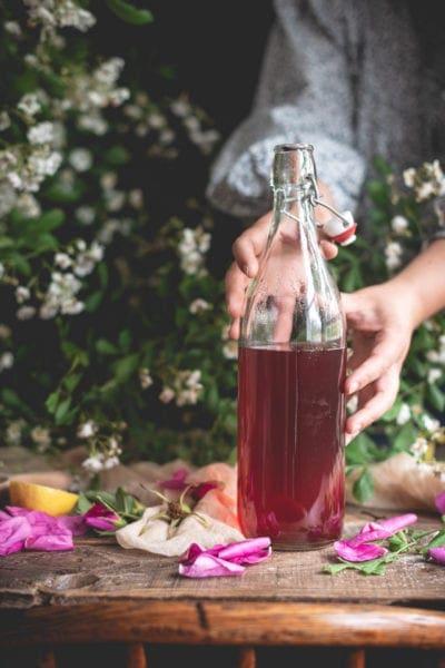 Rose Simple Syrup | Fare Isle