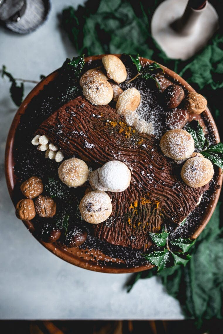 Yule Log Cake   Fare Isle