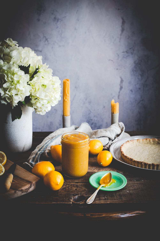 meyer lemon curd food photography