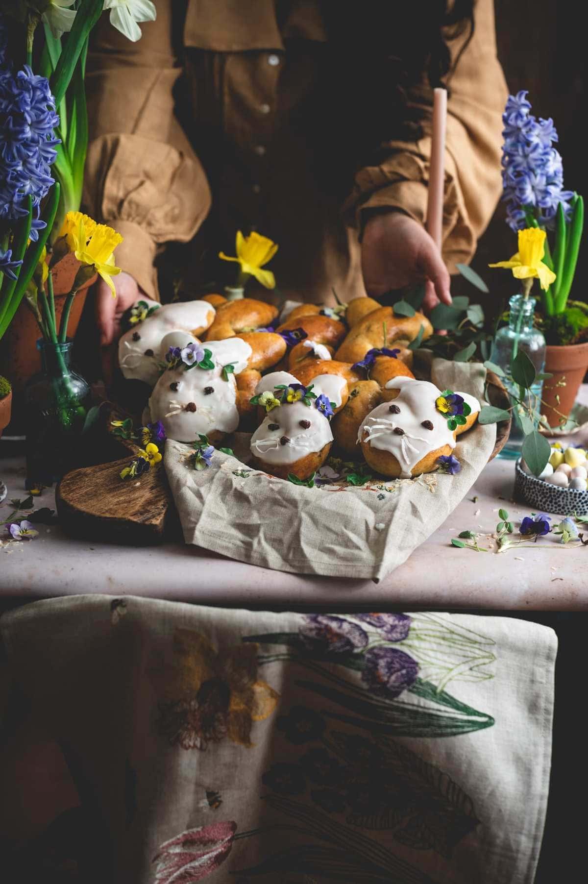 Sourdough Hot Cross Bun-nies | Sourdough Brioche Bunny Buns